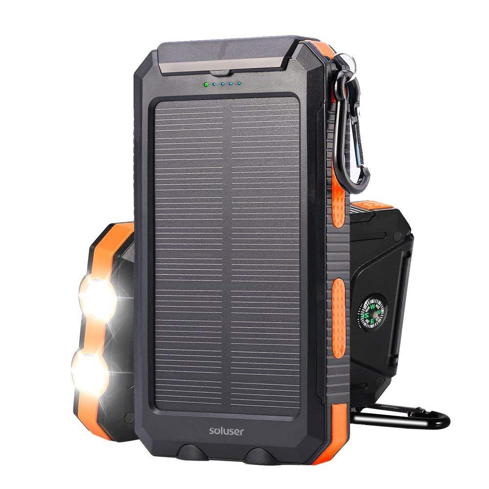 Soluser モバイルバッテリーソーラーチャージャー