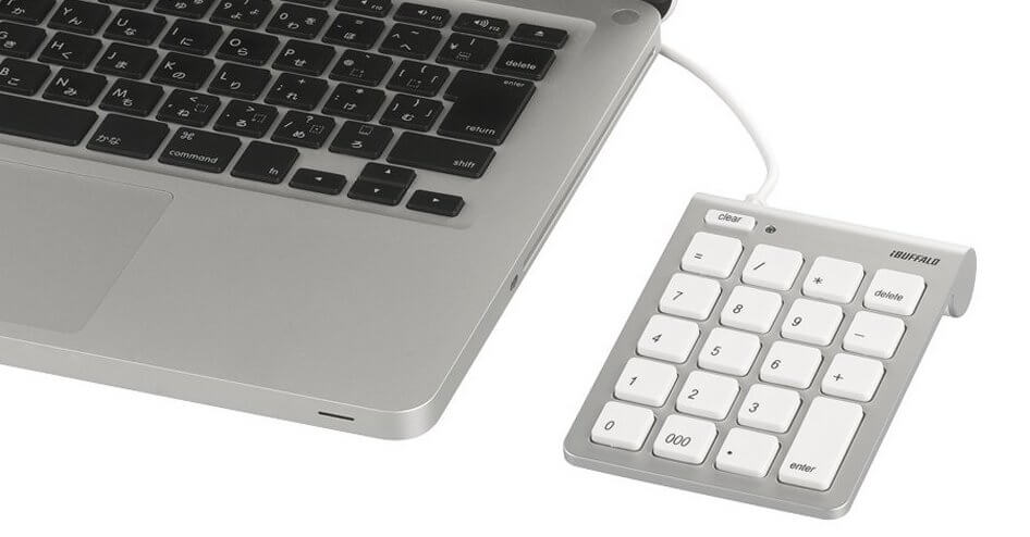 iBUFFALO テンキーボード Mac用
