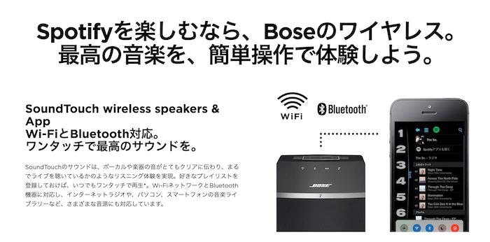 BOSE&Spotifyの連携について