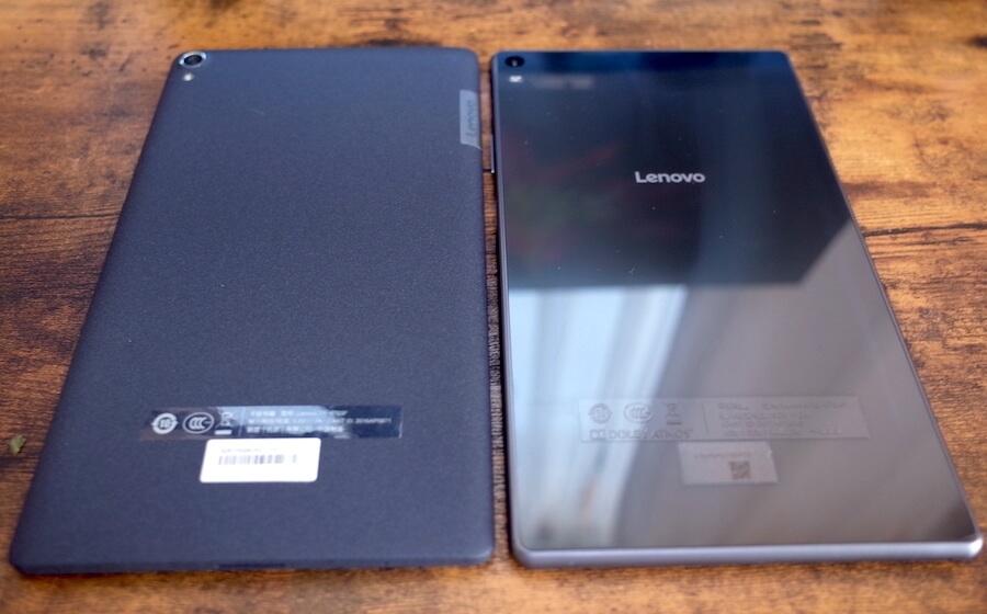 左が「tab4 8 PLUS」で、右が「P8」