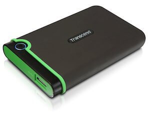 Transcend 2.5インチポータブルHDD 1TB (TS1TSJ25M3)