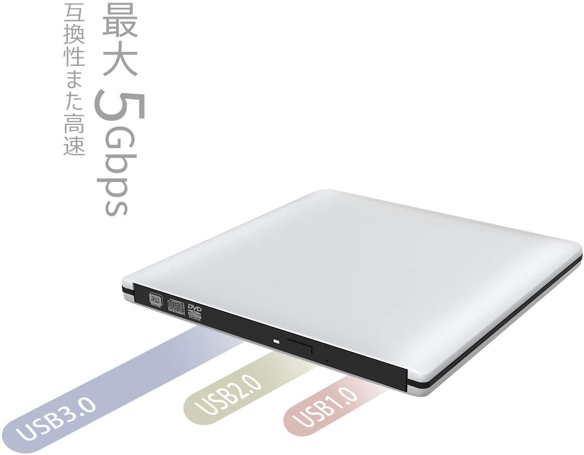 VersionTek 超薄型CD/DVDドライブ(最新版)