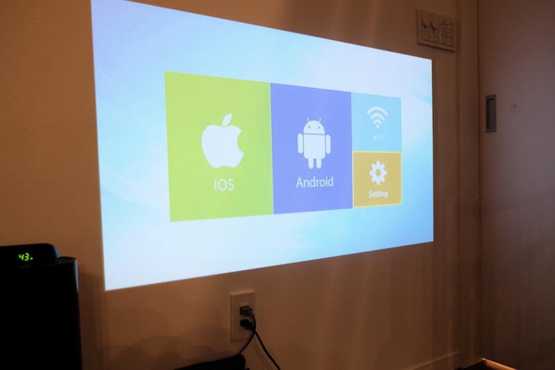 各デバイスへの接続、WIFI、各種セッティングの設定画面
