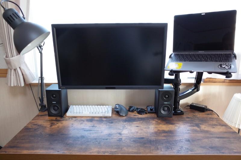 机の上が全解放されます。