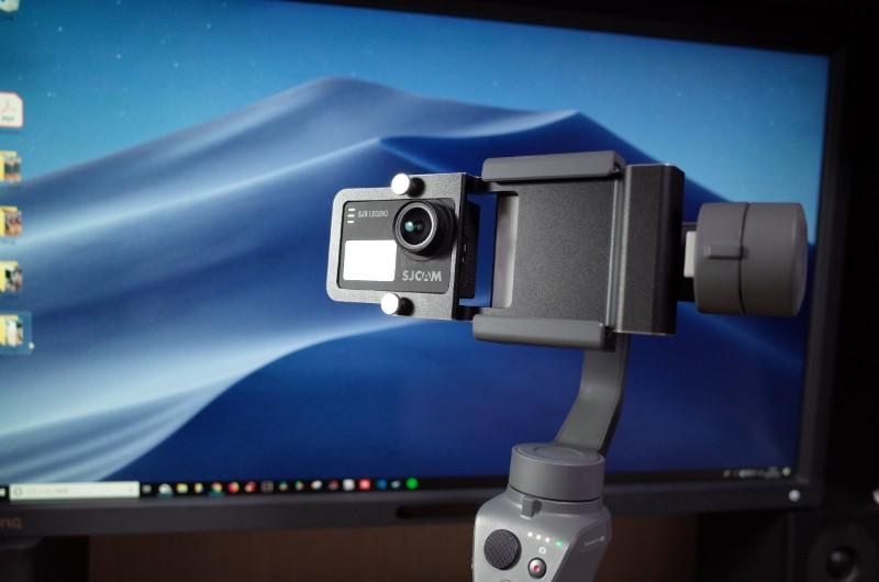 アクションカメラもセットできる