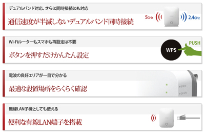 BUFFALO 無線LAN中継機 エアステーション解説2