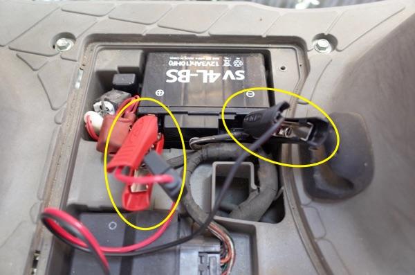 バッテリーに繋げる