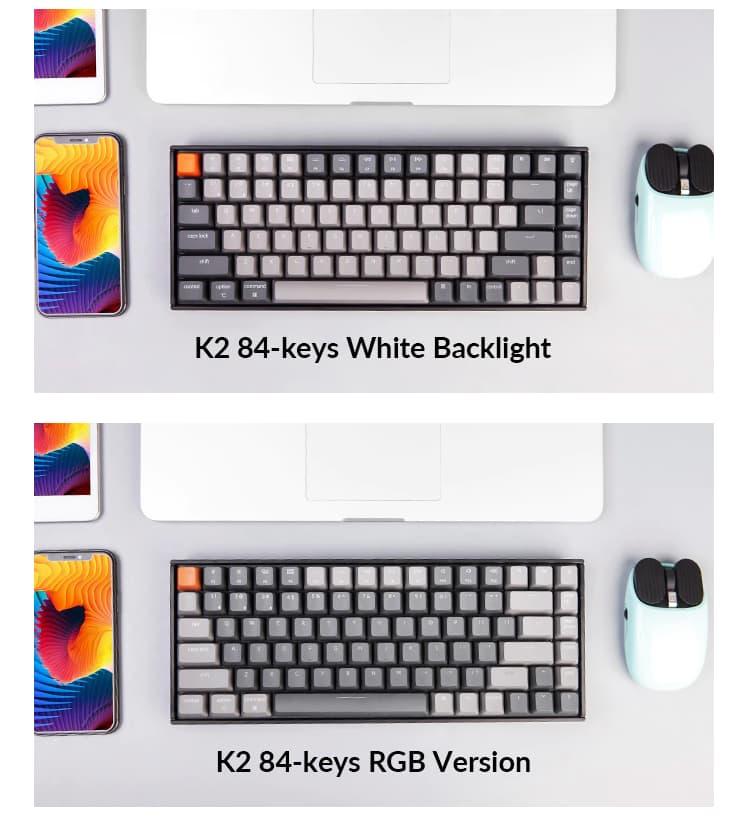 モデルによってキートップの色が反転しています