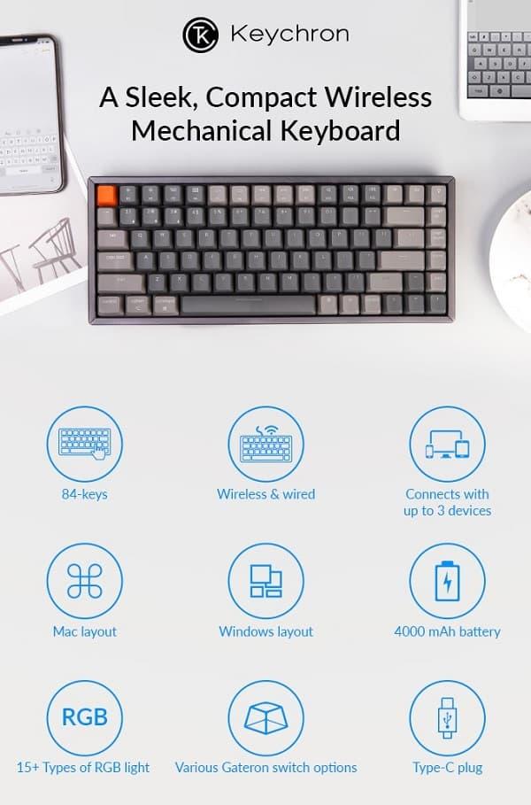 「Keychron K2」は、かなり使い勝手がいいキーボード