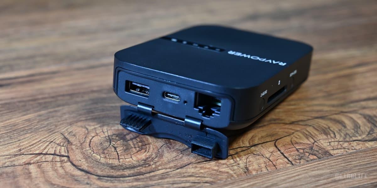 「USB-A ポート」「USB−C ポート」「有線LANポート」が出てきます