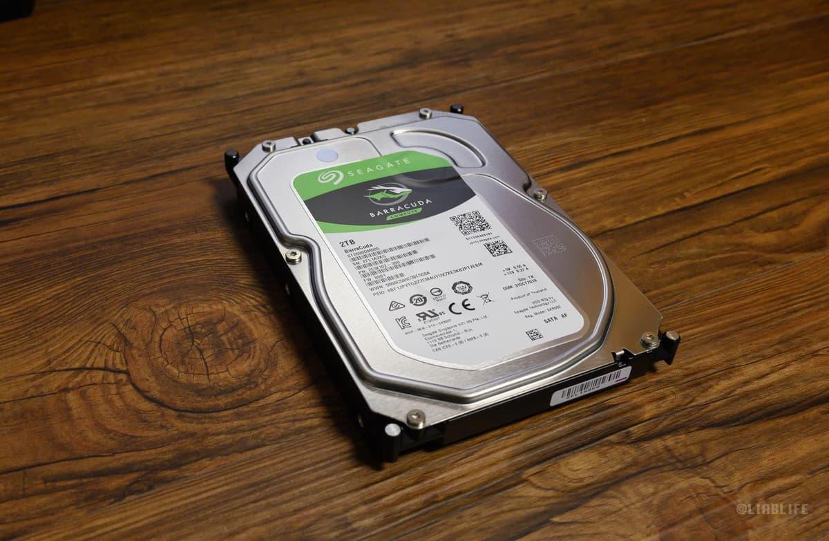 アメリカのメジャーブランド「SEAGATE」の3.5インチ内蔵HDD 2TB